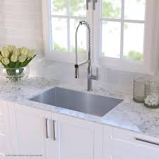 discount kitchen sinks and faucets kraus handmade stainless steel 16 30 x 18 undermount