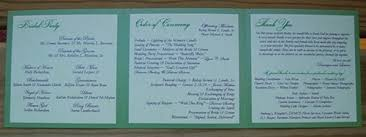 tri fold wedding programs diy tri fold wedding program new york city