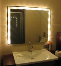 bathroom mirror with lights behind mirror with lights behind home design and decorating ideas