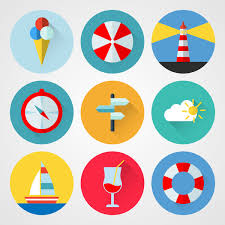 Travel icons free vector in encapsulated postscript eps eps
