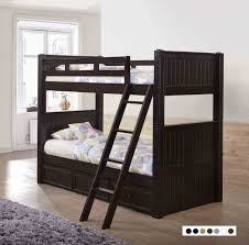 Black Wooden Bunk Beds Dillon Black Wood Bunk Bed Black Wood Bunk Beds With Trundle