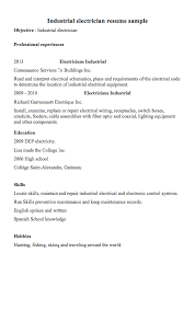 Electrician Resume Example Industrial Electrician Resume Examples Resumedoc