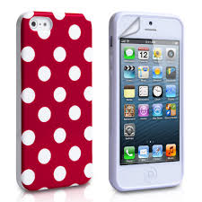 yousave accessories iphone se polka dot gel case red