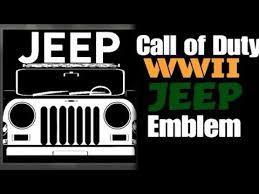 call of duty jeep emblem call of duty ww2 emblems jeep youtube
