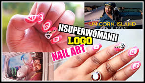 iisuperwomanii logo inspired nail art unicorn nails for at2ui