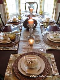 Fall Table Settings Festive Fall Table Setting With White Pumpkins Calypso In The