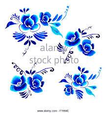 Hintergrundmuster Blau Hintergrund Muster Blumen Blau Abstrakte Blumen Hintergrund