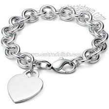 sterling silver bracelet with heart images New 925 sterling silver heart charming chain bracelet sterling jpg