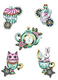 25 alice wonderland tattoos ideas alice