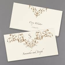 vintage wedding place cards flamingo