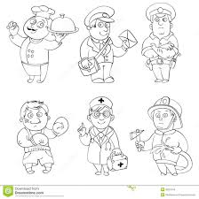 mailman coloring pages professions coloring book royalty free stock image image 36281616