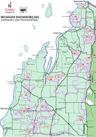 map of michigan michigan snowmobiling northwest lower peninsula snowmobile trail