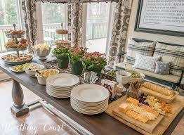 party table buffet table ideas home decor party easter tablescapes