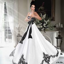 black and white wedding dresses look extraordinary with black and white wedding dresses