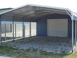 Garage With Carport All Steel Carports