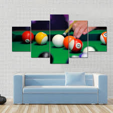 pool table wall art billiard balls in a green pool table multi panel canvas wall art