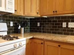 best kitchen backsplash ideas with granite countertops dark tile