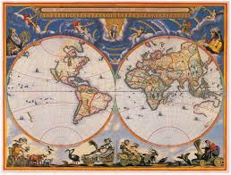 World Map Hemispheres by Ancient World Maps