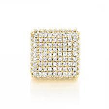 mens diamond stud earrings single k gold square mens diamond stud earring ct pave diamonds