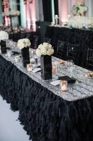 headtable decor sequins tablecloths bling and sparkle wedding