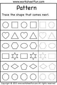 pattern math worksheets preschool complete the pattern printable worksheets worksheets and shapes