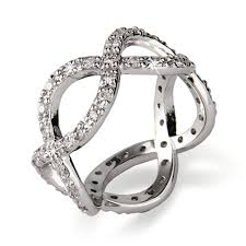 silver diamonds rings images Sterling silver diamond cz infinity band jpg
