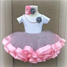 ribbon tutu baby skirts tutu toddler girl 3 layer tulle tutu skirts pink