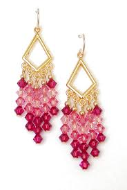 Pink Chandelier Earrings Pink Chandelier Earrings Swarovski Chandelier