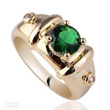 popular cheap gold rings for men buy cheap royal mens 7mm green emerald gold finish sterling silver ring