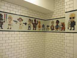 Geek Bathroom Accessories by Home Design Finished My Basement Bathroom With A Star Wars Pixel
