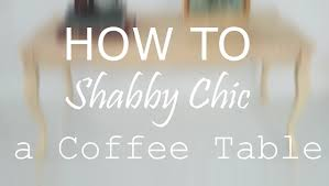 diy vintage shabby chic furniture painting a coffee table