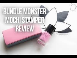 bundle monster huge mochi stamper review nail art nails