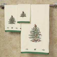 spode tree bath towel set
