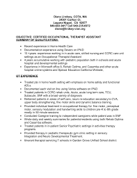Sample Resume For Occupational Therapist by Ot Resume 2015