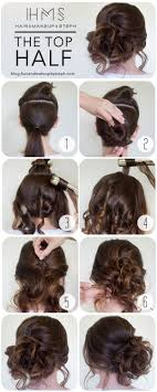updos for curly hair i can do myself how to the top half hair style prom and prom hair