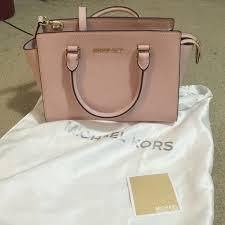 light pink michael kors handbag 28 off michael michael kors bags michael kors medium selma light