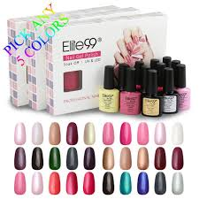 elite99 any 5 colors soak off gel nail polish uv led color nail