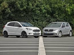 comparatif si e auto b essai comparatif dacia sandero et ford ka qui est la reine du low