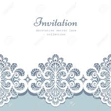 Borders For Invitation Cards Free Elegant Greeting Card Or Wedding Invitation Template With Lace