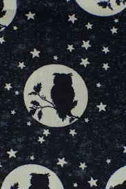 Glow In The Dark Halloween Fabric by Halloween Owls Owls Fabric Halloween Fabric Glow In The Dark