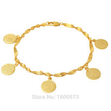 aliexpress buy wedding gifts18k gold plated wide wholesale coin money sign arabic jewelry great gifts18k gold color