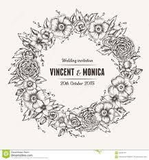 wedding invitations vector vector vintage floral wedding invitation stock vector