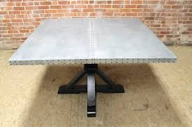 Square Pedestal Table Square Zinc Pedestal Table Ecustomfinishes