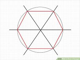 3 ways to draw a hexagon wikihow
