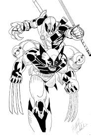 wolverine deadpool drawing coloring pages coloring