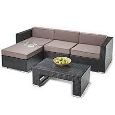Outdoor Rattan Corner Sofa Rattan Corner Sofa And Table Set Brown Rattan With Luxurious