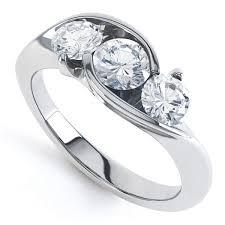 3 diamond rings modern 3 crossover diamond ring jewellery