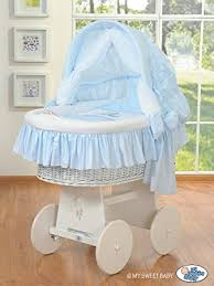 Wicker Crib Bedding Beautiful Wheeled White Wicker Crib Moses Basket With Big Wheels