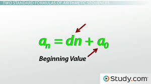 how to find and classify an arithmetic sequence video u0026 lesson