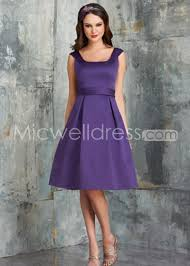 us 127 99 a line square neckline satin pleated full skirt tea